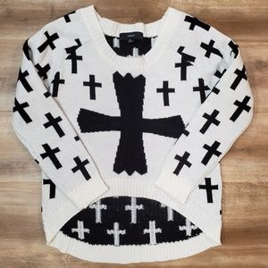 Hi Lo Cross Sweater